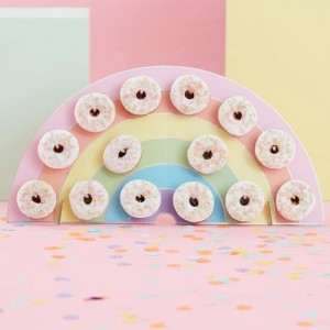 Rainbow Donut Wall