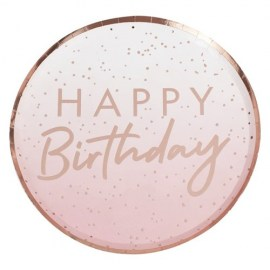 Happy Birthday Rose Gold Foil