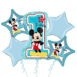 Mickey Mouse 1st Birthday Balloon Kit - 5τμχ.