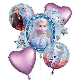 Έλσα Frozen 2 Balloon Bouquet - 5τμχ.