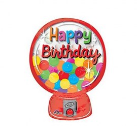 Happy Birthday Gumball Machine Μπαλόνι Foil 20''