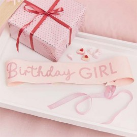 Κορδέλα Birthday Girl Glitter Pink