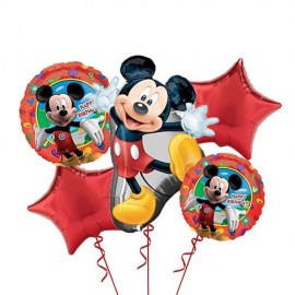Mickey Mouse Balloon Bouquet - 5τμχ.