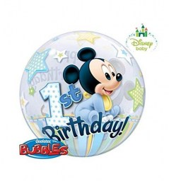 Μπαλόνι Bubble Mickey 1st Birthday