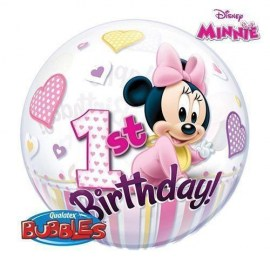Μπαλόνι Bubble Minnie 1st Birthday