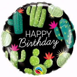 Μπαλόνι Happy Birthday Cactus
