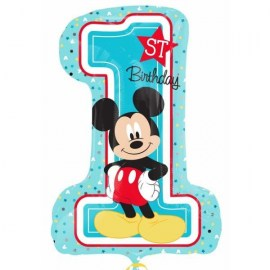 Μπαλόνι foil 1st Birthday Mickey Mouse