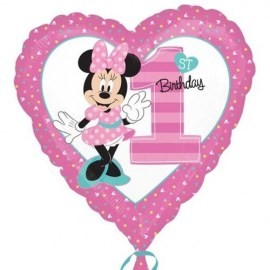 Μπαλόνι Foil Minnie Mouse 1st Birthday Heart
