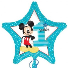 Μπαλόνι Foil Mickey Mouse 1st Birthday Star
