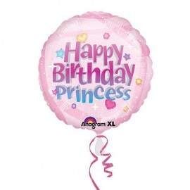 Μπαλόνι Foil Happy Birthday Princess 18''