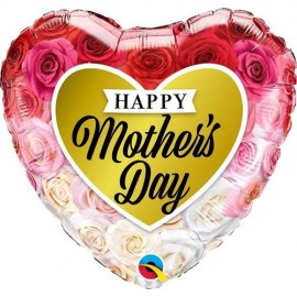 Μπαλόνι foil Happy Mother's Day Heart 18''