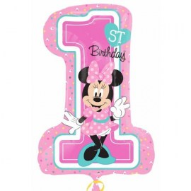 Μπαλόνι foil Minnie Mouse 1st Birthday