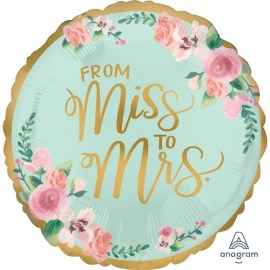 Μπαλόνι Foil From Miss to Mrs Floral