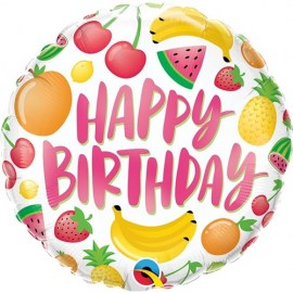 Μπαλόνι Happy Birthday Fruits