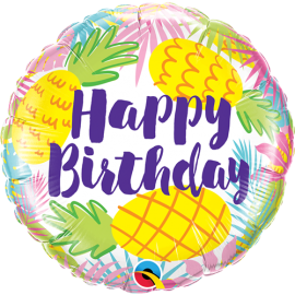 Μπαλόνι Happy Birthday Pineapples