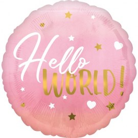 Μπαλόνι Hello World Pink