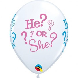 Μπαλόνι Gender Reveal He or She - 6τμχ.