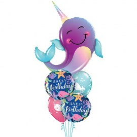 Narwhal & Friends Balloon Bouquet - 5τμχ.