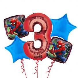 Spiderman Balloon Bouquet - 5τμχ.