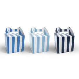 Sweet Boxes Blue Stripes - 6τμχ.